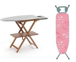 Tablas de planchar de madera y aluminio